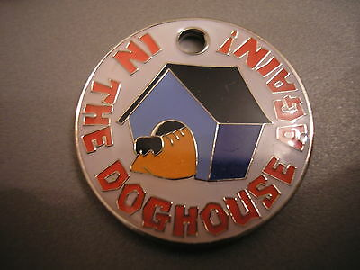 Personalised Engraved Comical Pet Id Tag - In The Doghouse Free P&p & Engraving