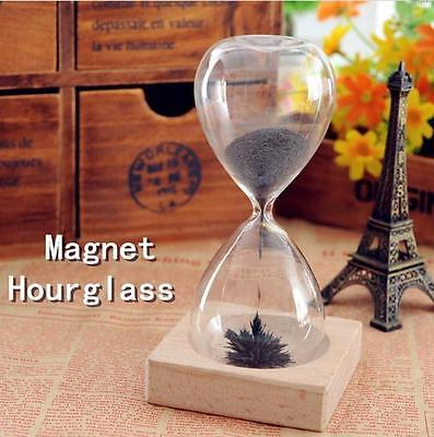 Magnetic Timer Sand Hourglass Desktop Hourglass Filled iron Filings Decoration ぱ