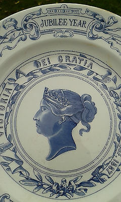 A Lovely Early Large Queen Victoria Jubilee Royal Worcester Plate C1887.