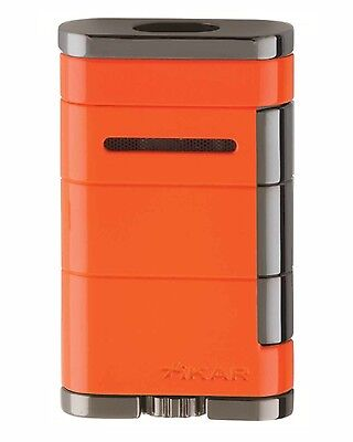 Xikar Allume Double Jet Feuerzeug orange / gun 1533or  Crush Orange neues Modell