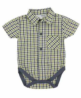 Nursery Time Check Shirt Vest - Sunset
