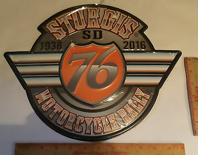 Sturgis 2016 metal sign collectible 76th motorcycle rally emblem 16