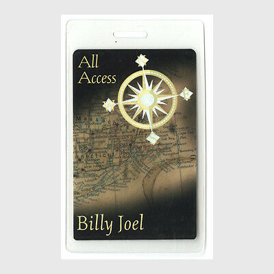 Billy Joel authentic 1989 concert tour Laminated Backstage Pass