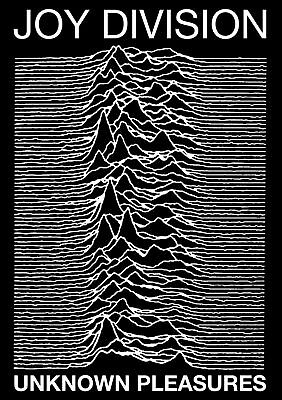 Joy Division Unknown Pleasures Poster UK Import 23.5 x 33 Free US Shipping
