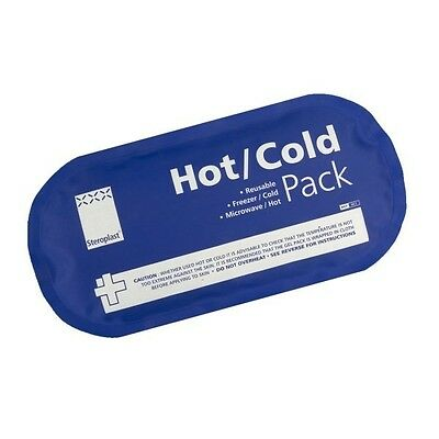 Oval Reusable Hot Cold Gel Pack for Injuries, Sports, Therapy & Pain Relief