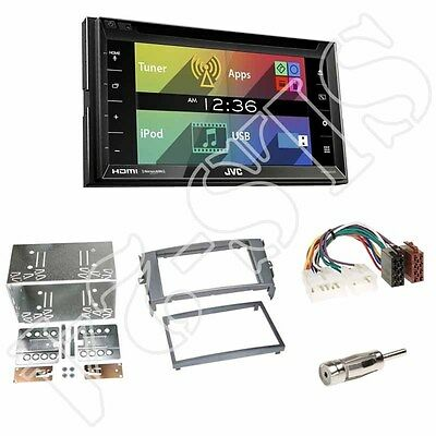 JVC KW-V620BT Radio + Toyota Auris 2-DIN Radioblende anthrazit + ISO-Adapter