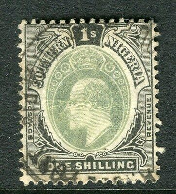SOUTHERN NIGERIA;  1904 early ED VII issue fine used 1s. value, Shade