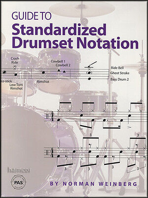 Guide to Standardized Drumset Notation Drum Music Book by Norman Weinberg