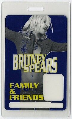 Britney Spears authentic 2001-2002 concert tour Laminated Backstage Pass