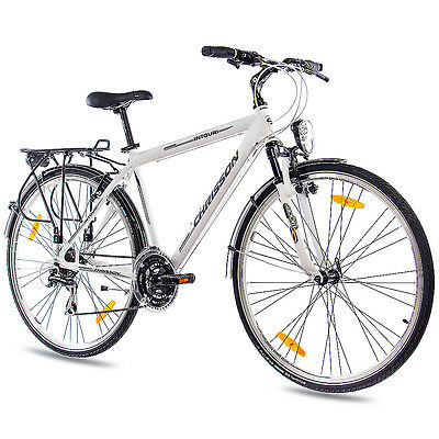 "28"" CITY BIKE TREKKINGRAD ALU HERRENRAD CHRISSON INTOURI 24G ACERA weiss B-WARE"