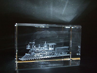 Laser Crystal Paperweight Locomotive 3563 New Presentation Boxed