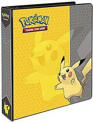 Pokemon Ultra Pro Pokemon Pikachu 3-RING D-RING BINDER w/ 20 pages BRAND NEW!!