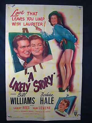 Likely Story-1947-Orig Poster-Bill Williams-Comedy Vg