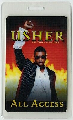 Usher authentic 2004 concert tour Laminated Backstage Pass