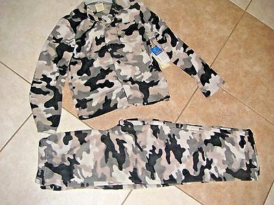 New Faded Glory Camouflage 2 Piece Fleece Pajamas Boys Girls Size 6 7