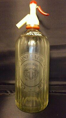 Vintage glass soda siphon, Cambrian mineral water co Ltd