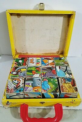 Vintage Walt Disney Mickey Mouse Picture Blocks made in West Germany