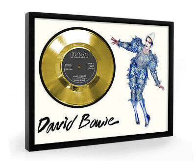 David Bowie Ashes To Ashes Framed Gold Disc Display Vinyl (C1)