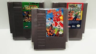 100 Nes Cartridge Bags.  Fits Cd's Too!  Protect Loose Games!  Nintendo