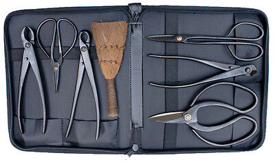 7 Piece Bonsai Tree Tool Kit with Case - New and Unused Bonsai Tools