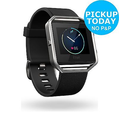Fitbit Blaze Large Classic Accessory Band - Black -From the Argos Shop on ebay