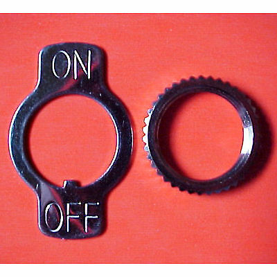 New Lot Of 20 Carling On/off Metal Locking Rings & Lock Nuts For Toggle Switches
