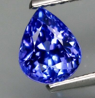 1.07ct Natural Tanzanite Top Purplish Blue Color Eye Clean EF clarity Pear shape