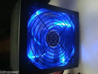 NEW 1000W 1000 WATT 1050W 1075W BLUE LED Fan Silent ATX Power Supply PSU SATA