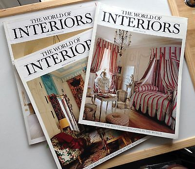 World of Interiors magazine 3 copies 1994 February, March, April 1994