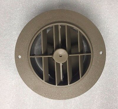"4"" BEIGE Round Rotaire Grille Damper Heat AC Outlet Register Vent 3840RDB RV"