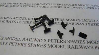Peters Spares PS46 Replacement Lima Class 92 Buffers (Pk4) Blackened