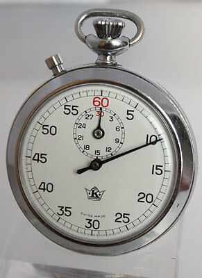 EXCELSIOR PARK swedish ARMY Three Crowns rare MILITARY II WW STOP WATCH