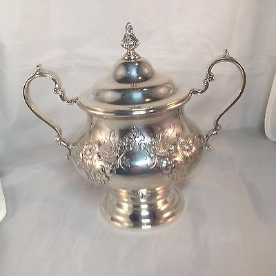 Gorham Victorian Chased Sugar Bowl Sterling Silver 13.25 Troy Oz