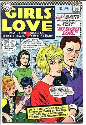Girls' Love Stories #118-Dc Romance-Great Cover Vg/fn