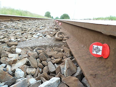 10 Railway survey targets, ideal for all fixed monitoring or control points