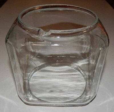Used 6 Pound Glass Globe For Oak Acorn Gumball Candy Vending Machines - Chipped