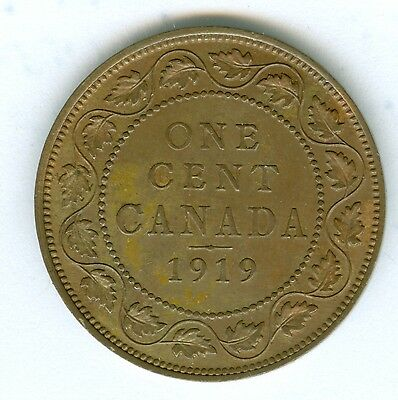 Canada 1919 Large Cent--Red And Brown Uncirculated