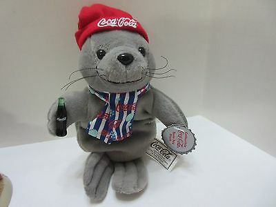 COCA COLA SEAL Bean Bag Plush 1999 NWT