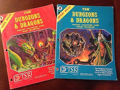 Vintage Dungeons & Dragons D&D Basic Rules And Expert Rules Books 1980!