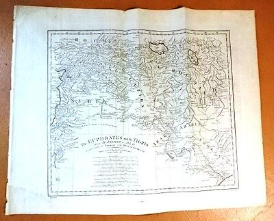 1788 Bowen Map Of The Euphrates And Tigris Irak Kurdistan +++