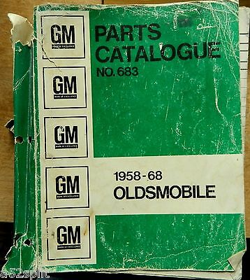 58-1968 Olds parts manual 68 67 66 65 64 63 1966 59 Super 88 98 Delta Holiday 60