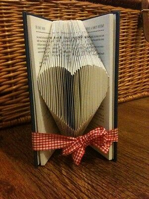 Folded Book Art Love Heart. Gift. Present.