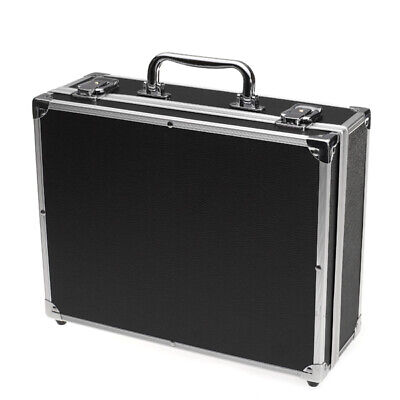 Large Aluminum Carry Case Holder Storage Travel Box For Tattoo Machine Power