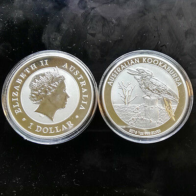 1oz Commemorative Silver Plated Coin -- 2016 Australian Kookaburra Coin
