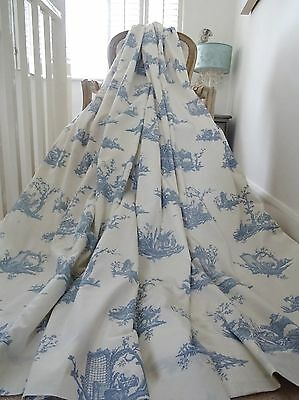 "PRE-XMAS SALE! French TOILE de JOUY CURTAINS each HEAD 44.1""W 85""D shabby chic"