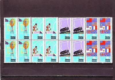 a114 - TOKELAU - SG33-36 MNH 1972 25th ANNIV S. PACIFIC COMMISSION - BLOCKS OF 4