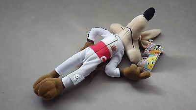 "LOONEY TUNES WILE E COYOTE 12"" Tall Soft Plush Cartoon Toy - NEW WITH TAGS"