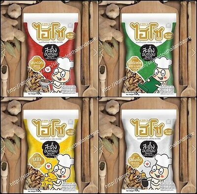 4 Flavors Of Thai Fried Small Cricket Edible Insect Assorted Local Protein Snack