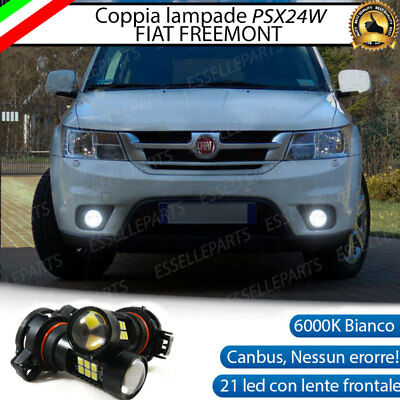 Coppia Lampade Fendinebbia Psx24W Led Cob Canbus Fiat Freemont 6000K
