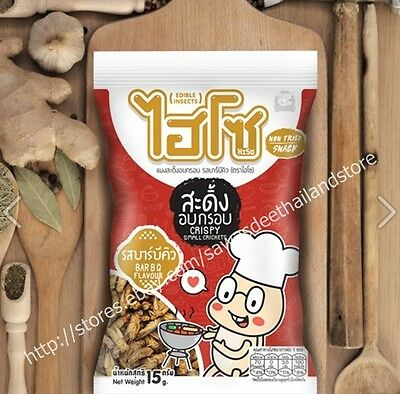 Bbq Flavors Of Thai Fried Small Cricket Edible Insect Assort Local Protein Snack